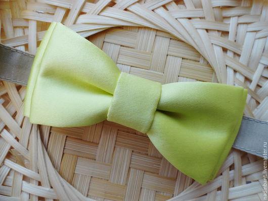 """Галстуки, бабочки ручной работы. Ярмарка Мастеров - ручная работа. Купить Галстук бабочка """"Лимонад"""". Handmade. Лимонный, бабочка-галстук"""
