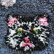 Для дома и интерьера handmade. Livemaster - original item Decorative pillow case cat carpet technique. Handmade.