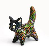 Подарки к праздникам ручной работы. Ярмарка Мастеров - ручная работа Чёрная кошка Хэллоуина (стоящая). Handmade.
