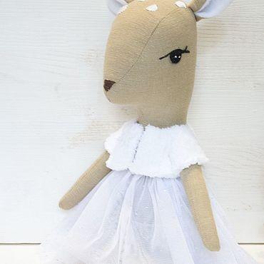 Dolls & toys handmade. Livemaster - original item Toy Fawn .Gentle girl snowflake. Handmade.
