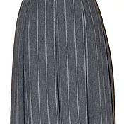 Одежда ручной работы. Ярмарка Мастеров - ручная работа юбка  в  складку . строгий графит. Handmade.