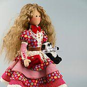 Куклы и игрушки ручной работы. Ярмарка Мастеров - ручная работа Кукла-Тильда `Ledy in red` ед. экз.. Handmade.