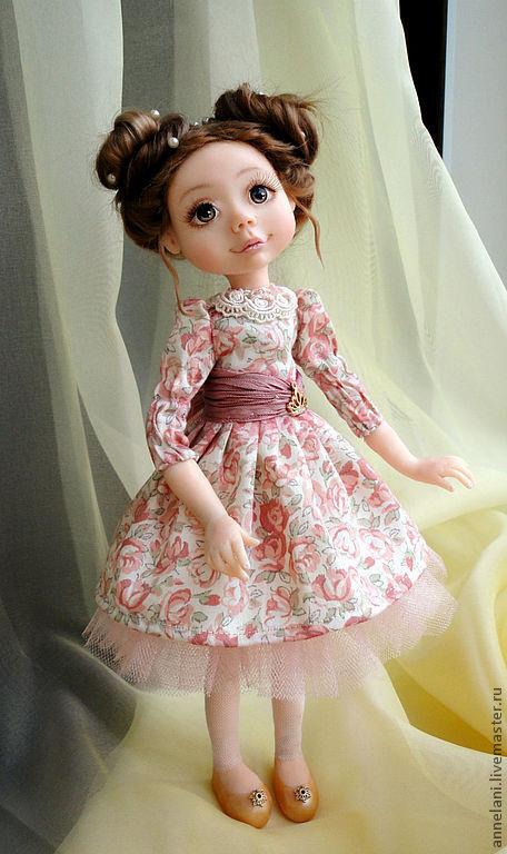 """Коллекционные куклы ручной работы. Ярмарка Мастеров - ручная работа. Купить Куколка """"Нежнее нежного"""". Handmade. Бледно-розовый, фимо"""