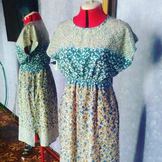 Платья ручной работы. Ярмарка Мастеров - ручная работа. Купить Платье летнее. Handmade. Летнее платье, платье из хлопка