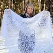 Аксессуары handmade. Livemaster - original item Handkerchiefs:Openwork down scarf