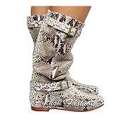 Обувь ручной работы handmade. Livemaster - original item Women`s boots of the Piton MALTA. Handmade.