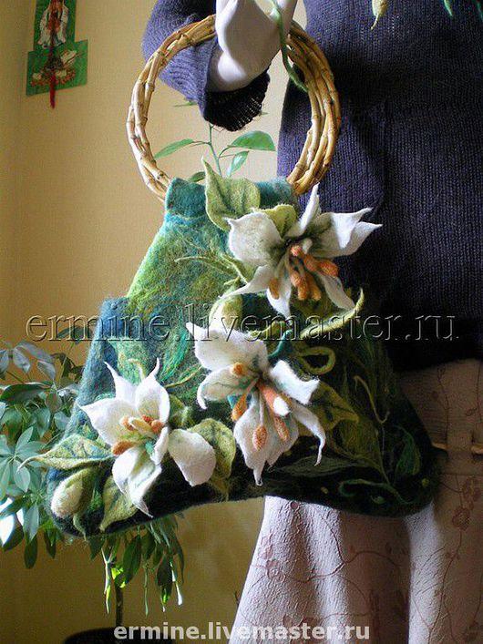 Handbags handmade. Livemaster - handmade. Buy 'Fairy of the water lilies'-felted bag.Author bag, original bag