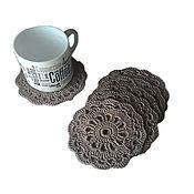 Для дома и интерьера handmade. Livemaster - original item Stand under a hot under the mugs, the kettle, beige. Handmade.