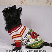 """Для домашних животных, ручной работы. Ярмарка Мастеров - ручная работа Платье для собачки """"Ах, лето"""". Handmade."""