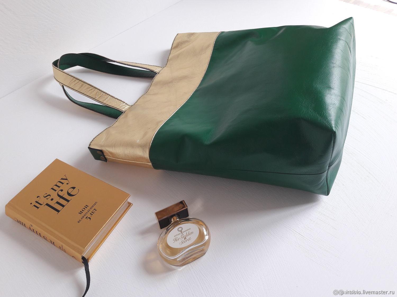 e96dbe94fee Купить Сумка большая женская кожаная Женские сумки ручной работы. Сумка  большая женская кожаная  Изумрудная .