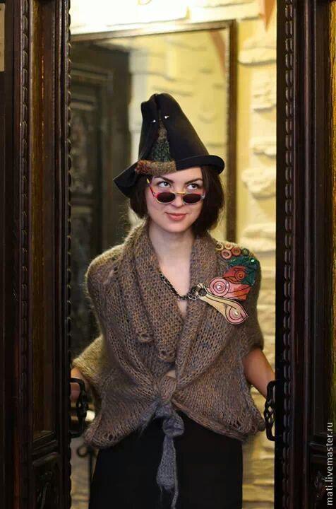 """Шляпы ручной работы. Ярмарка Мастеров - ручная работа. Купить Шляпа """"Вольная"""". Handmade. Тёмно-синий, стильный аксессуар, шляпа"""