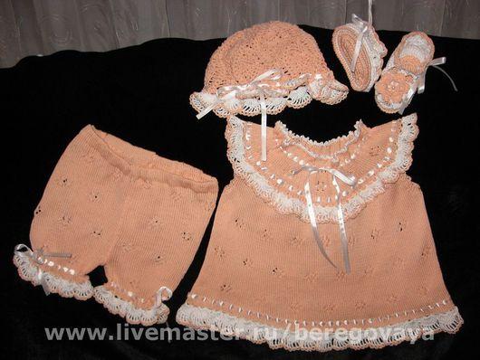 Одежда для девочек, ручной работы. Ярмарка Мастеров - ручная работа. Купить Комплект для девочки Персик. Handmade. Детский комплект, платье