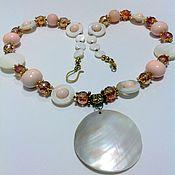 Украшения handmade. Livemaster - original item Necklace of pearls and mother of pearl Aphrodite.. Handmade.