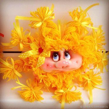 """Сувениры и подарки ручной работы. Ярмарка Мастеров - ручная работа Кукла - попик """"Солнышко"""". Handmade."""