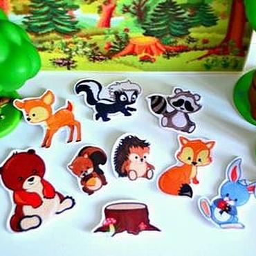 Куклы и игрушки ручной работы. Ярмарка Мастеров - ручная работа Изучаем животных Лесные. Handmade.