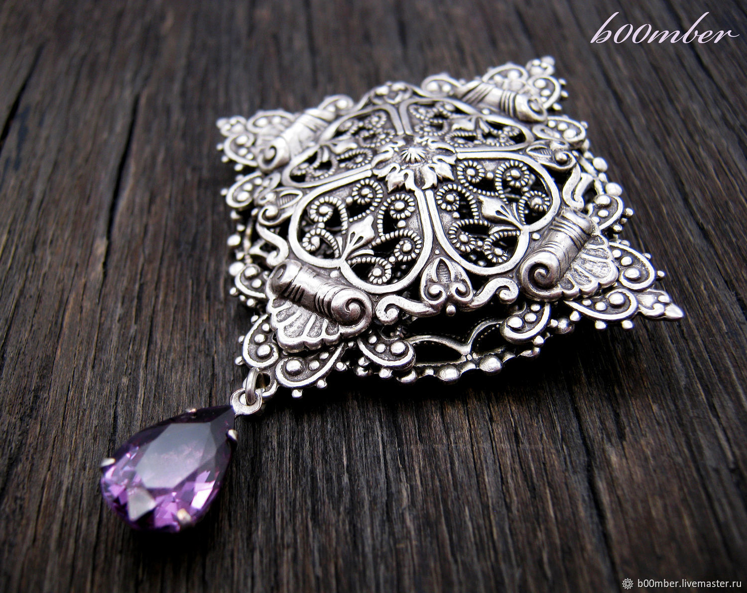 Brooch-pendant with alexandrite ' Solaires'. Vintage style, Brooches, Protvino,  Фото №1