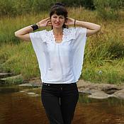 Одежда ручной работы. Ярмарка Мастеров - ручная работа Румынское Любимое Кружево Блуза. Handmade.