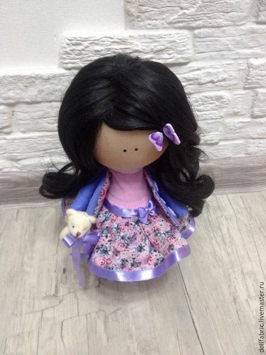 Коллекционные куклы ручной работы. Ярмарка Мастеров - ручная работа. Купить Интерьерная текстильная кукла.. Handmade. Сиреневый, интерьерная кукла
