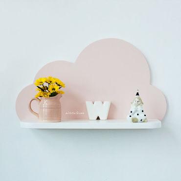 Для дома и интерьера ручной работы. Ярмарка Мастеров - ручная работа Нежно-розовая полочка-облако. Handmade.