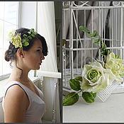 Свадебный салон ручной работы. Ярмарка Мастеров - ручная работа гребень с суккулентами,керамическая флористика. Handmade.