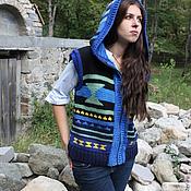 Одежда ручной работы. Ярмарка Мастеров - ручная работа Жилет  ВЕСТЕРН синий. Handmade.