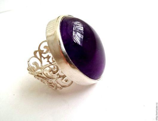 """Кольца ручной работы. Ярмарка Мастеров - ручная работа. Купить Кольцо""""Love purple""""- аметист,серебро 925. Handmade. Фиолетовый"""