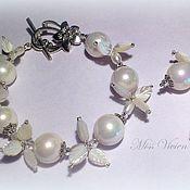 Украшения handmade. Livemaster - original item Snow berry set bracelet and earrings. Handmade.