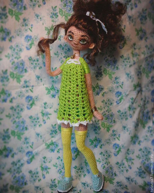Человечки ручной работы. Ярмарка Мастеров - ручная работа. Купить вязаная каркасная кукла. Handmade. Кукла ручной работы
