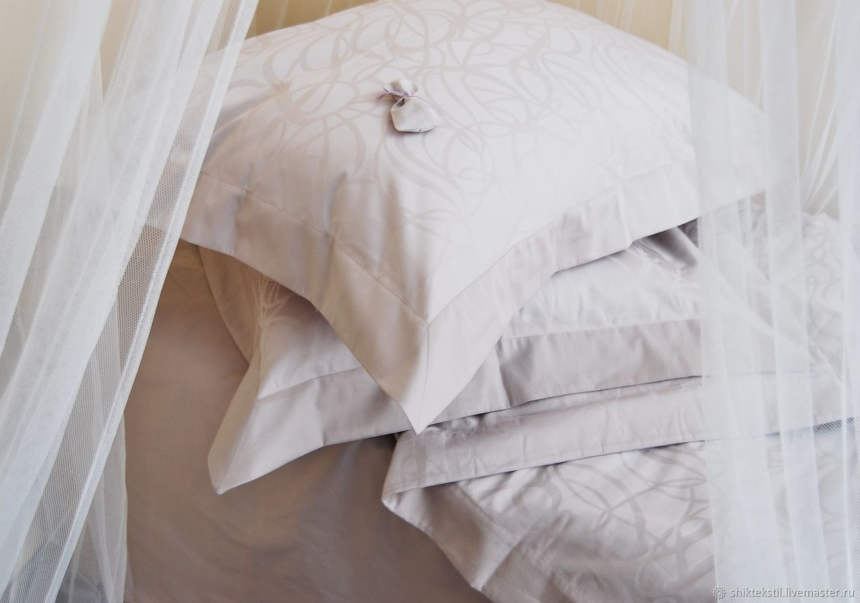 Серый жаккардовый комплект постельного белья в подарок на свадьбу, Подарки, Самара,  Фото №1