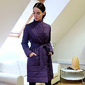 Одежда handmade. Livemaster - original item Women`s insulated coat Wine Rose. Handmade.