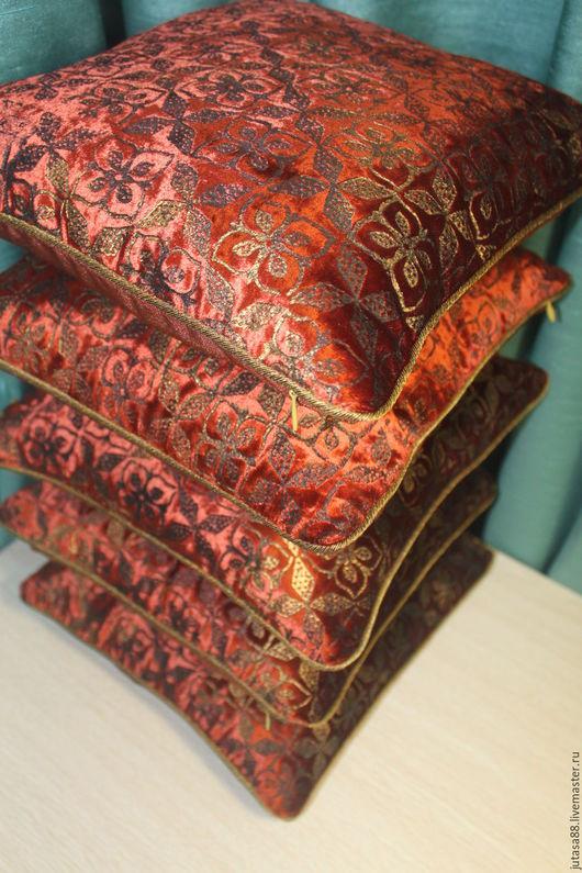 Текстиль, ковры ручной работы. Ярмарка Мастеров - ручная работа. Купить Подушечки в восточном стиле. Handmade. Коричневый, Подушки, спальня