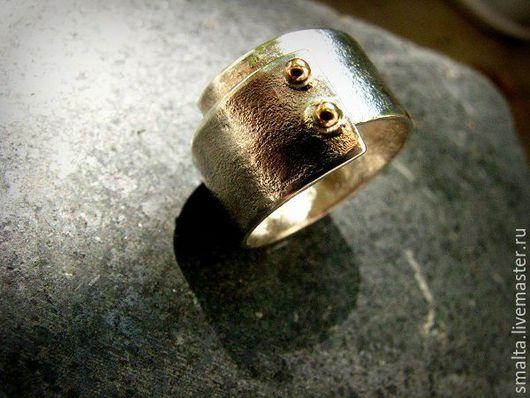 Кольца ручной работы. Ярмарка Мастеров - ручная работа. Купить Серебряное кольцо с золотом. Handmade. Серебряный, золото, золото
