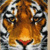 Для дома и интерьера ручной работы. Ярмарка Мастеров - ручная работа картина в ковровой технике. тигр распродажа. Handmade.