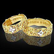 """Религиозное кольцо ручной работы. Ярмарка Мастеров - ручная работа Венчальное кольцо """"Спаси и сохрани"""". Handmade."""