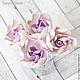 Свадебные украшения ручной работы. Набор шпилек с гардениями (6 шт). Tanya Flower. Интернет-магазин Ярмарка Мастеров.