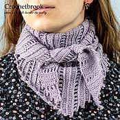 Аксессуары handmade. Livemaster - original item Crochet wrap/shawl for women from merinos and silk. Handmade.