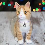Куклы и игрушки ручной работы. Ярмарка Мастеров - ручная работа Рыжий кот  (игрушка из войлока, валяние). Handmade.