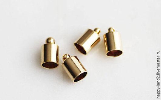 Для украшений ручной работы. Ярмарка Мастеров - ручная работа. Купить Концевик на шнур 4 мм, 2 покрытия , Южная Корея. Handmade.