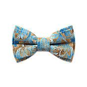 Аксессуары ручной работы. Ярмарка Мастеров - ручная работа Галстук бабочка голубого цвета с цветочным принтом / Бабочка галстук. Handmade.