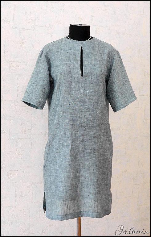 Платья ручной работы. Ярмарка Мастеров - ручная работа. Купить Легкое льняное платье. Handmade. Однотонный, льняное платье