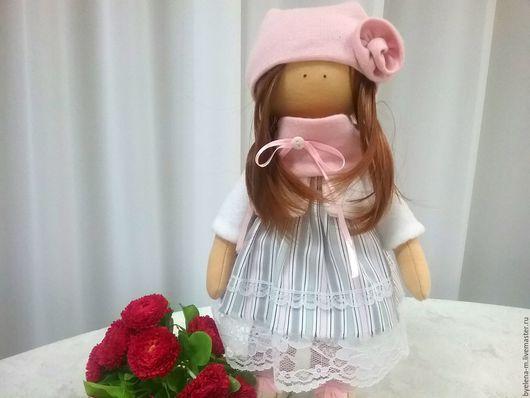 Коллекционные куклы ручной работы. Ярмарка Мастеров - ручная работа. Купить Интерьерная кукла  Эллис.. Handmade. Бежевый, ручная работа