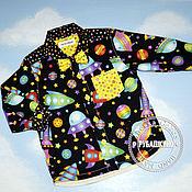 """Работы для детей, ручной работы. Ярмарка Мастеров - ручная работа Рубашка """"Просто космос"""". Handmade."""