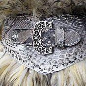 Аксессуары handmade. Livemaster - original item Wide belt-natural Python. Handmade.