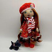 Куклы и пупсы ручной работы. Ярмарка Мастеров - ручная работа Девочка с собачкой. Handmade.