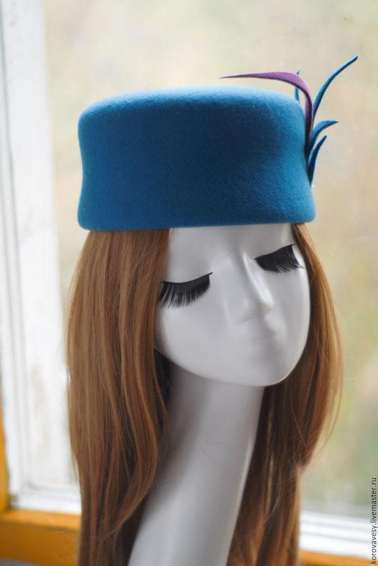 """Шляпы ручной работы. Ярмарка Мастеров - ручная работа. Купить Ток """"Морская лагуна"""". Handmade. Тёмно-бирюзовый, женская шляпка"""