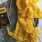 Аксессуары ручной работы. Ярмарка Мастеров - ручная работа Хлопковый шарф-палантин.. Handmade.