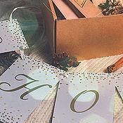 """Подарки к праздникам ручной работы. Ярмарка Мастеров - ручная работа Гирлянда """"С новым годом"""". Handmade."""