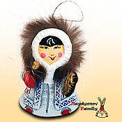 Сувениры и подарки handmade. Livemaster - original item Hantek with a tambourine. Handmade.