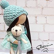 Куклы и игрушки ручной работы. Ярмарка Мастеров - ручная работа Интерьерная текстильная кукла с зайцем. Handmade.