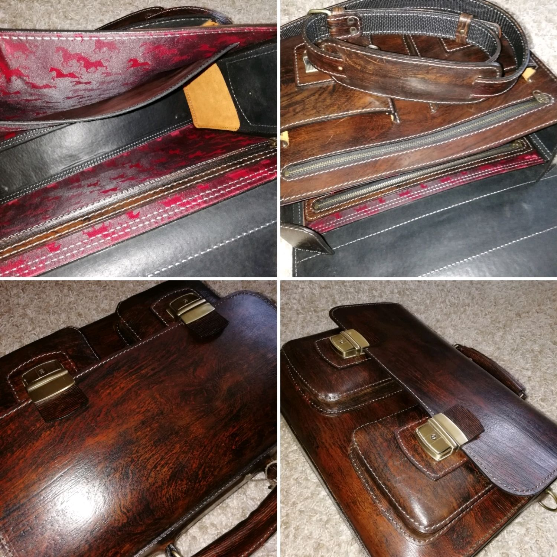 Мужской чемодан, античное дерево